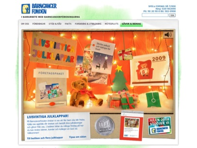 Livsviktiga julklappar (Barncancerfonden)
