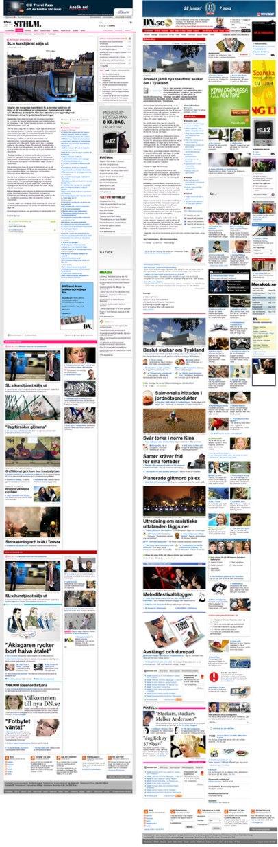 dn.se - jämförelse av artikelsida