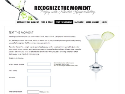 Recognize The Moment (Absolut Vodka)