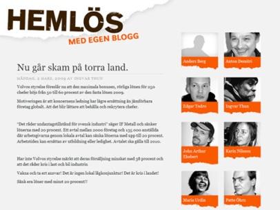 Hemlös – med egen blogg (Situation Stockholm)