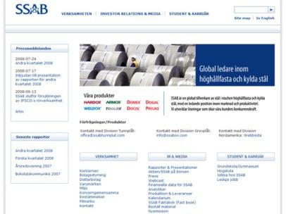ssab.com (SSAB) - gammal