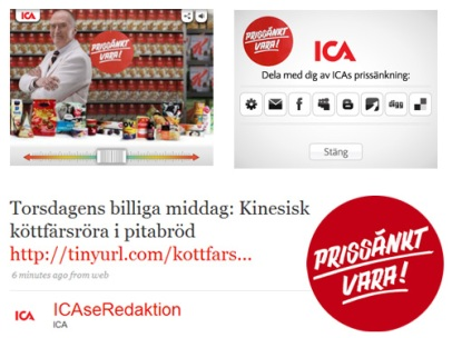 ICA sänker priset (ICA)