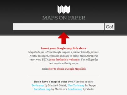 Maps On Paper (Webbtjänst)