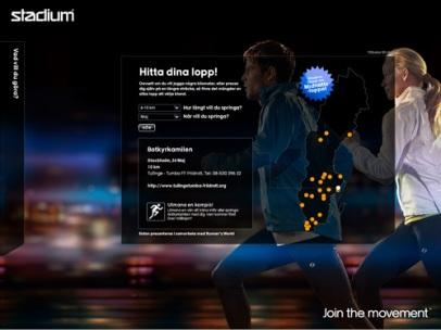 Running på stadum.se (Stadium)