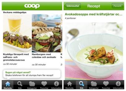 Coop recept för iPhone (Coop)
