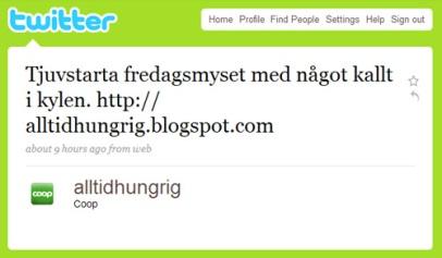Alltid hungrig på Twitter