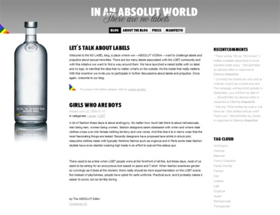 Absolut No Label (Absolut Company)