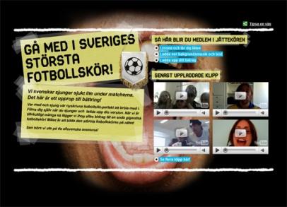 Sveriges största fotbollskör (Svenska Spel)