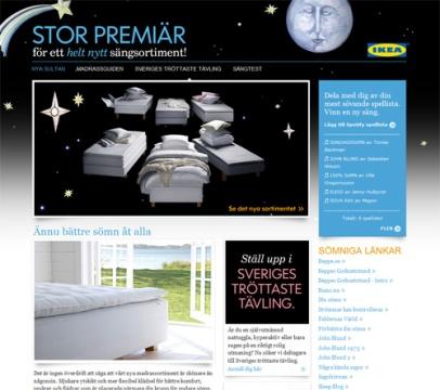 Stor premiär för ett helt nytt sängsortiment (Ikea)