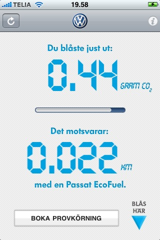 passat ecofuel iphone app